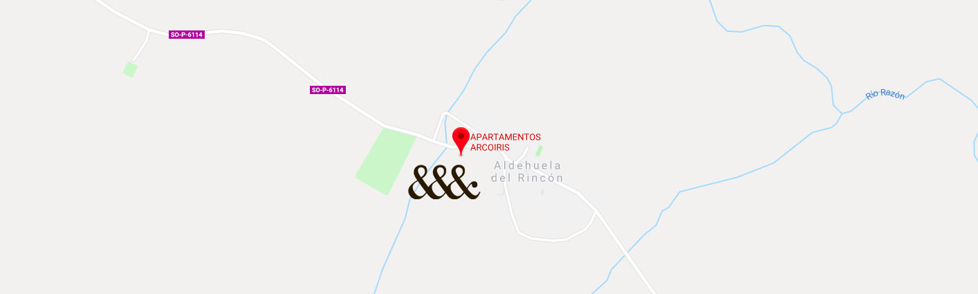 mapa apartamentos arcoiris casas rurales soria